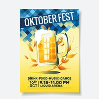 Panfleto de festa Oktoberfest vetor