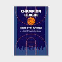 Modelo de cartaz de basquete moderno
