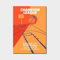 Cartaz de basquete moderno