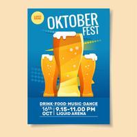 Modelo de Cartaz - festa da Oktoberfest vetor