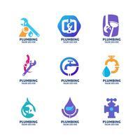 Conjunto de ícones modernos de encanamento vetor