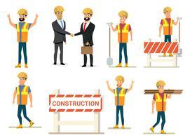 Coleção de pessoas de negócios de construção