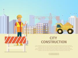 Modelo de página de destino de construção de cidade vetor