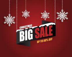Banner de venda de Natal vetor