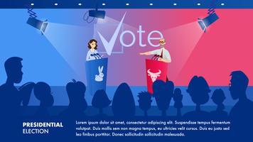 Eleição presidencial vetor