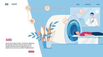 Folheto de ressonância magnética informativo vetor