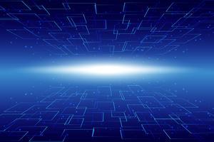 Fundo abstrato tecnologia Fundo digital de comunicação tecnologia Hi vetor