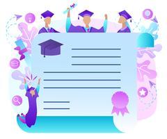 Borda de texto alegre de pós-graduação