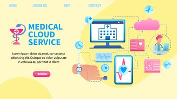 Sistema de transferência de dados de saúde do paciente vetor