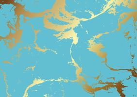 Textura de mármore verde-azulado e dourado vetor