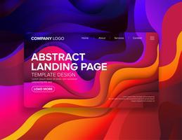 Design de modelo de página de destino