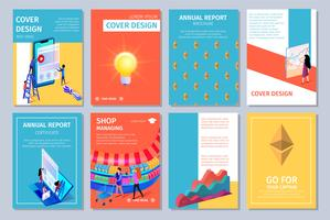 Caderno de relatório anual colorido