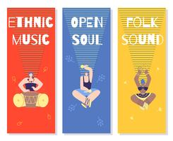 Conjunto de Banners de Música vetor