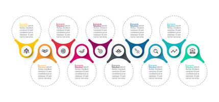 Gráficos de barra de infográficos de anel vetor