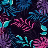Teste padrão floral tropical colorido vetor