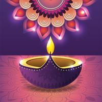 vassel iluminado com mandala de flores