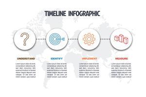 modelo de infográfico mínimo de negócios