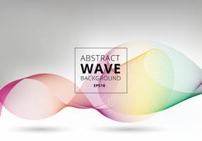Linhas de ondas de arco-íris suave no fundo branco