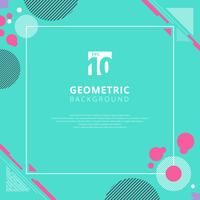 Padrão geométrico de círculo rosa sobre fundo de cor azul com espaço de cópia