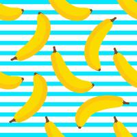 Fundo sem emenda de banana vetor