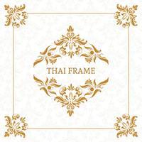 Borda de quadro temático tailandês de vetor