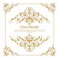Vetor de quadro temático tailandês elegante