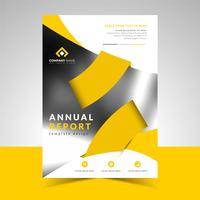 Modelo de Design de negócios de relatório anual vetor
