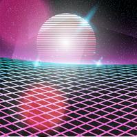 Néon de design discoteca de estilo retro dos anos 80