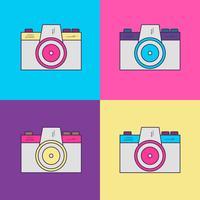 Câmera de fotografia Vintage com estilo dos anos 90 vetor