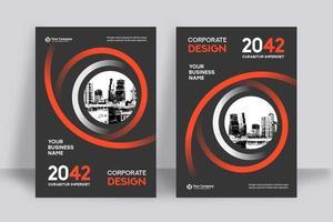 Modelo de Design de capa de livro de negócios de fundo cidade