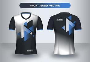 Modelo de design moderno futebol Jersey. vetor
