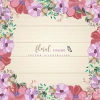 Design de moldura floral tropical