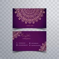 Cartão floral de Kalamkari vetor