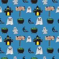 Padrão de fantasma sem emenda de Halloween vetor
