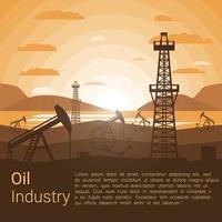Cartaz da Indústria Petrolífera vetor