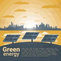 Paisagem com painéis solares vetor