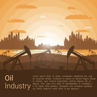 Modelo de indústria de petróleo vetor