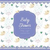 design de cartão do chuveiro de bebê vetor
