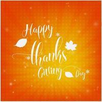 Design de cartão laranja feliz dia de ação de Graças