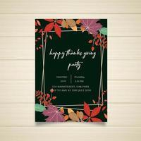 Design de cartaz de festa de ação de graças feliz