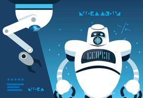 Tecnologia robótica futurista vetor