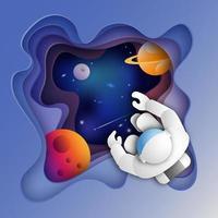 Astronauta no espaço sideral vetor