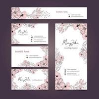 Coleção de cartão floral vetor