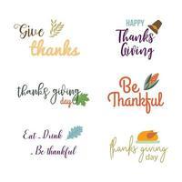 Coleção de citações de ação de graças