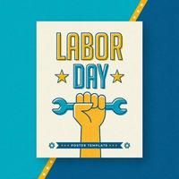 Modelo de cartaz de deslocamento do dia do trabalho