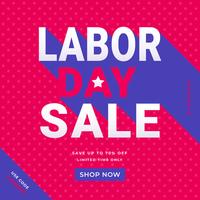 Modelo de mídia social de promoção de venda do dia do trabalho vetor