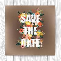 Tipografia de cartão de convite de casamento vetor