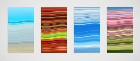 Conjunto de padrão de linha de curvas vetor