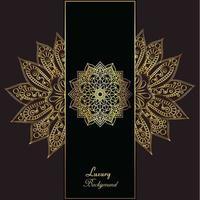 Fundo elegante de luxo dourado vetor