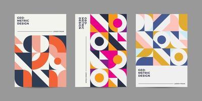 Conjunto de coleção de Design de capa retrô